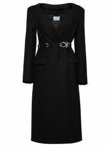 Prada double cloth coat - Black