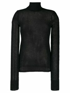 Helmut Lang sheer roll neck jumper - Black