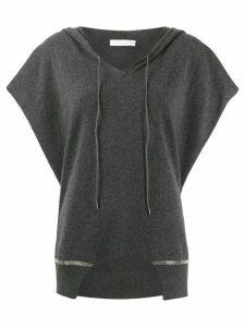 Fabiana Filippi Poncho hoodie - Grey