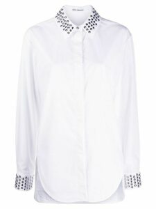 Paco Rabanne stud-embellished collar shirt - White