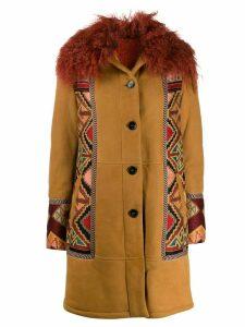 Etro tribal pattern detail coat - NEUTRALS