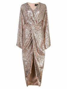 Rasario glitter wrap dress - Brown