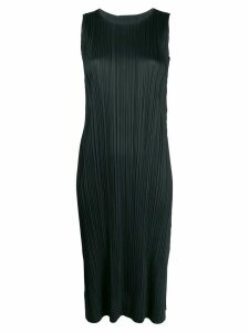 Pleats Please Issey Miyake plissé longline top - Black