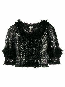 Comme Des Garçons cropped open-knit jumper - Black