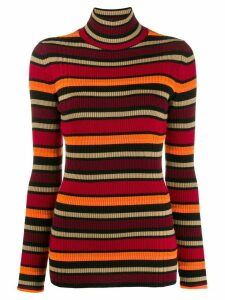 Victoria Victoria Beckham striped turtle-neck sweater - Red