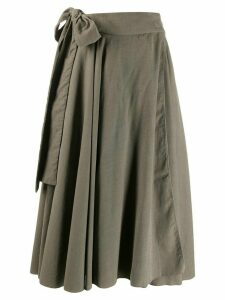 Maison Flaneur knotted draped midi skirt - Grey