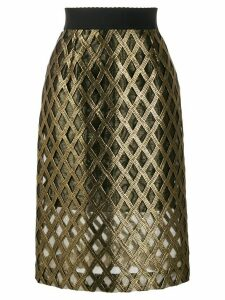 Dolce & Gabbana embroidered high-waisted skirt - GOLD