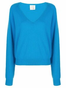 A Shirt Thing plunge neck jumper - Blue
