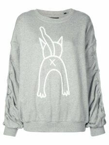 Haculla Cat Attack print sweatshirt - Grey