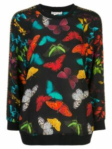 Alice+Olivia Calvin butterfly print sweater - Black
