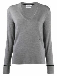Calvin Klein V-neck slim-fit jumper - Grey
