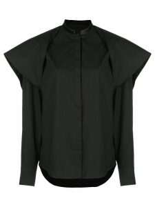 Haider Ackermann ruffle long-sleeve shirt - Black