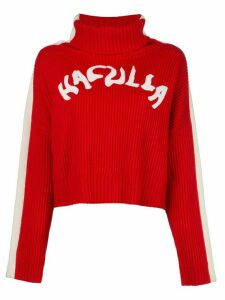 Haculla logo Nouveau ribbed jumper - Red