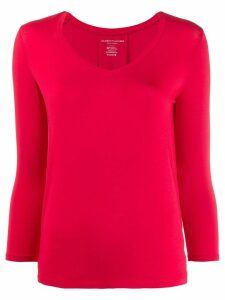Majestic Filatures button detail jersey T-shirt - Red