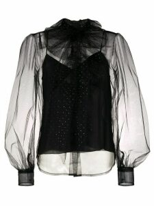Marc Jacobs embellished pussybow blouse - Black
