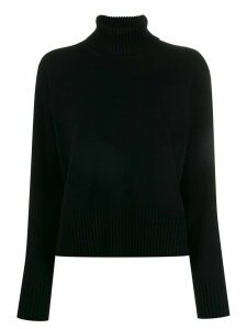 Roberto Collina plain turtleneck jumper - Black