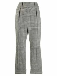 Alexandre Vauthier check high-rise trousers - Grey