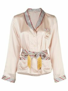 Morgan Lane Eloise belted shirt - PINK