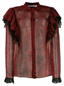 Philosophy Di Lorenzo Serafini leopard print sheer shirt - Red
