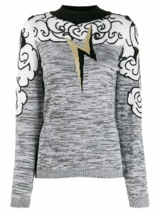 Alberta Ferretti storm clouds jumper - Grey