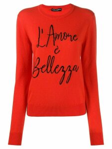 Dolce & Gabbana intarsia-knit jumper - Red