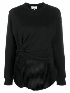 3.1 Phillip Lim tie front jumper - Black