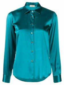 Blanca Vita long-sleeve fitted shirt - Blue