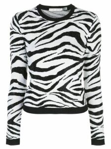 Alice+Olivia embellished animal pattern jumper - Black