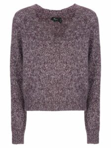 Theory V-neck jumper - PURPLE