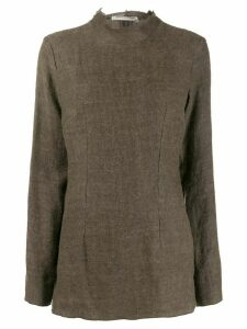 Cherevichkiotvichki knitted mock-neck top - Green