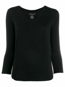 Majestic Filatures button detail jersey top - Black