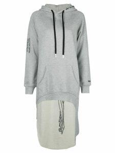 Haculla Pardon extended hoodie - Grey