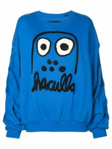 Haculla Monster print sweatshirt - Blue