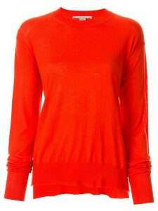 Stella McCartney curved-hem jumper - Orange