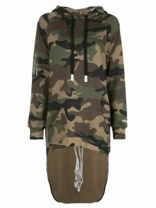 Haculla Pardon extended hoodie - Green