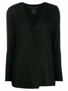 Majestic Filatures metallic jersey cardigan - Black