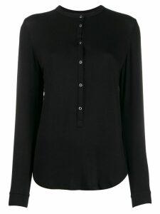 Majestic Filatures band collar jersey T-shirt - Black