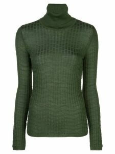 M Missoni turtleneck ribbed knit jumper - Green
