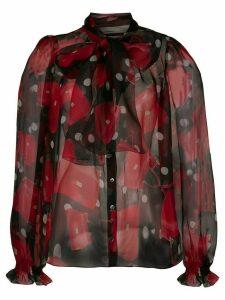 Dolce & Gabbana Sicily bag print blouse - Red