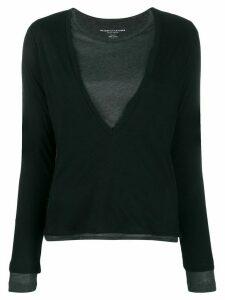 Majestic Filatures layered jersey T-shirt - Black