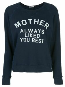Mother slogan print sweatshirt - Blue