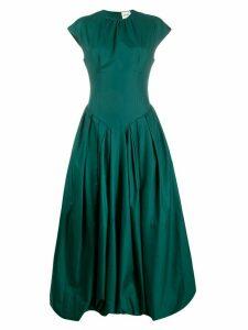 Khaite long pleated dress - Green