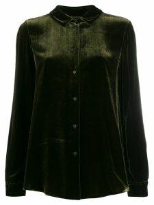 Aspesi velvet-texture shirt - Green