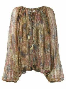 Mes Demoiselles Acacia transparent print blouse - NEUTRALS