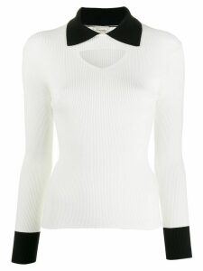 Temperley London cut-out detail jumper - White