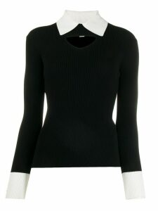 Temperley London cut-out detail jumper - Black