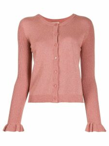 Twin-Set metallic-effect knit cardigan - Pink