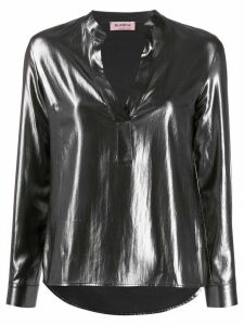 Blanca Vita metallic long sleeve blouse - Grey