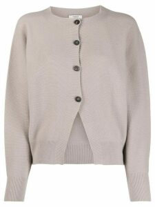 Peserico round-neck knit cardigan - NEUTRALS