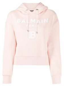 Balmain logo print hoodie - PINK